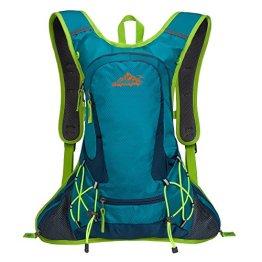 SHTH 12L Wasserdicht Fahrrad Schulter Rucksack Wasser Reisetasche Ultralight für Radsport Outdoor Reiten Bergsteigen Hydration ,44*25*10cm (Blau) -