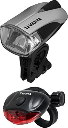 VARTA L.E.D. Fahrradleuchten Set inkl. 5x AAA Batterien -