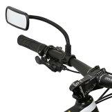 Wicked Chili Rückspiegel für Fahrrad / E-Bike / Roller / Mofa / Rollstuhl / Rollator / Kinderwagen / Golf Cart mit Schwanenhals (Spiegel Größe: 104 x 42 mm, Rohmontage, Made in Germany) -