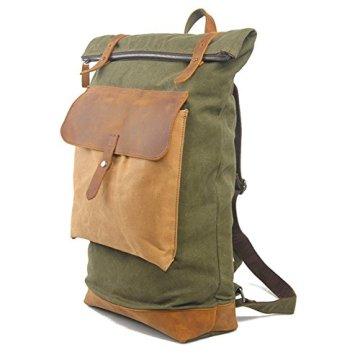 YAAGLE Neu Retro-Rucksack Damen und Herren Unisex Reiserucksack Laptoptasche Schultasche-dunkelgrau -