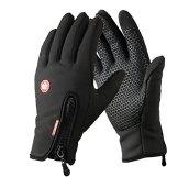 YYGIFT® Touchscreen Handschuhe Outdoor Sport Winter Damen und Herren Warme Fahrradhandschuhe Winddicht und Touchscreen geeignet mit der Reißverschlüsse Touchfinger -