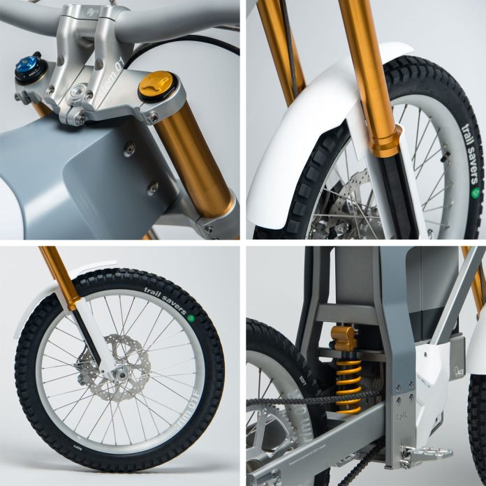 Cake Kalk electric offroad motorcycle e-bike with Ohlins suspension
