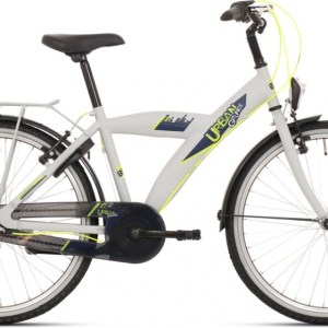 Bike Fun Urban 24 Inch 39 cm Jongens Knijprem Grijs