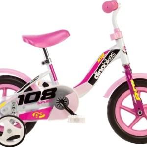 Dino 108L-Girl 10 Inch 17 cm Meisjes Doortrapper Wit