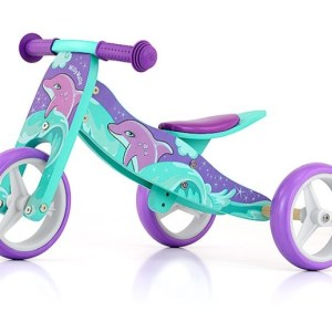 Milly Mally 2-in-1 loopfiets Jake Dolfijn Junior Paars/Groen