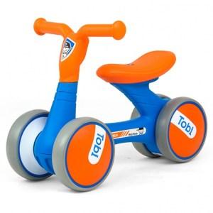 Milly Mally Loopfiets Tobi Junior Blauw/Oranje