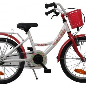Bike Fun Poppy 16 Inch 22 cm Meisjes Terugtraprem Wit