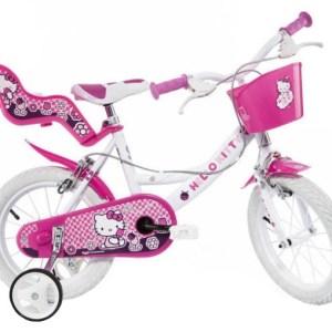 Dino Hello Kitty 14 Inch 23 cm Meisjes Knijprem Roze/Wit