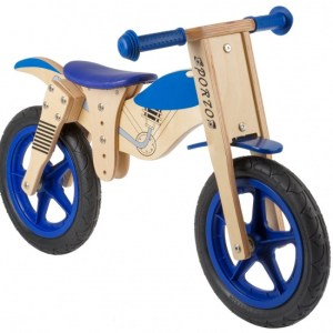 Kids Club Loopfiets balance 12 Inch Junior Blauw/Blank