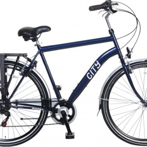 Popal City 6 Speed 28 Inch 49 cm Heren 6V V-Brake Blauw