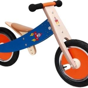 Scratch Balance Bike 12 Inch Junior Rood/Blauw