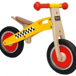 Scratch Move-It houten loopfiets taxi Junior Geel/Blank