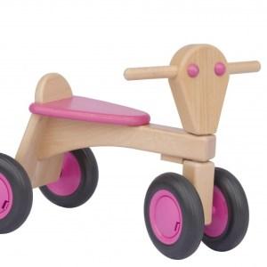 Van Dijk Toys houten loopfiets Junior Roze