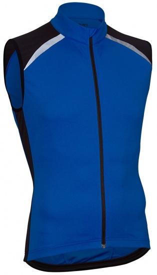 Avento Fietsshirt mouwloos heren blauw/zwart/wit maat XL
