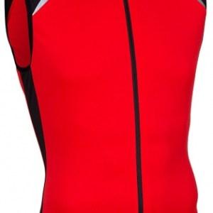 Avento Fietsshirt mouwloos heren rood/zwart/wit maat XL