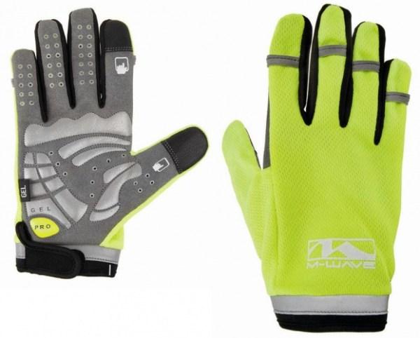 M-Wave Handschoenen Gel Secure Touchscreen geel maat L