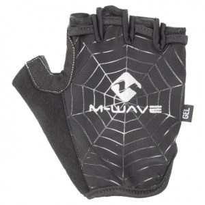 M-Wave fietshandschoenen Spiderweb-Gel zwart maat L