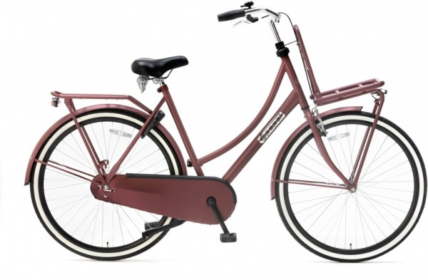 Popal Daily Dutch Basic 28 Inch 50 cm Dames Terugtraprem Rood