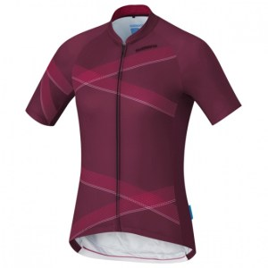 Shimano fietsshirt Team Performance dames bordeaux Maat XL
