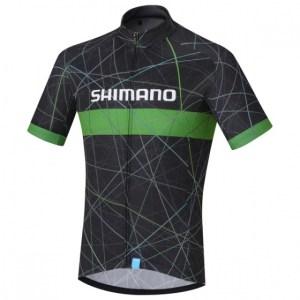 Shimano fietsshirt Team Performance heren zwart/groen Maat M