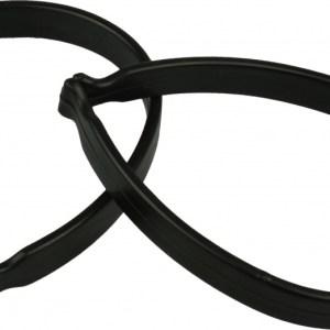 VWP Broekklemmen PVC zwart per set