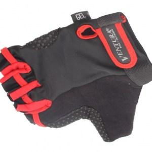 Ventura Fietshandschoenen Gel Rood Zwart Maat L