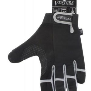 Ventura Fietshandschoenen Gel Zilver Maat L