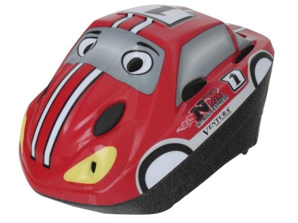 Ventura Fietshelm 3D Racing Car Kind Maat 52/57 cm