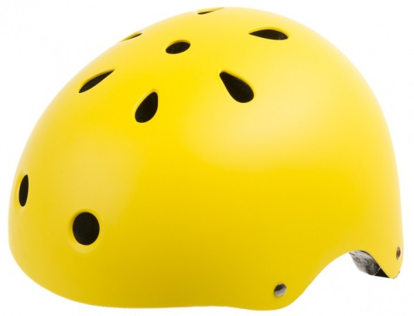 Ventura Freestyle BMX Helm Smiley Geel Maat L (58-61 cm)