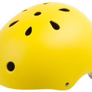 Ventura Freestyle BMX Helm Smiley Geel Maat L (58-61 cm)