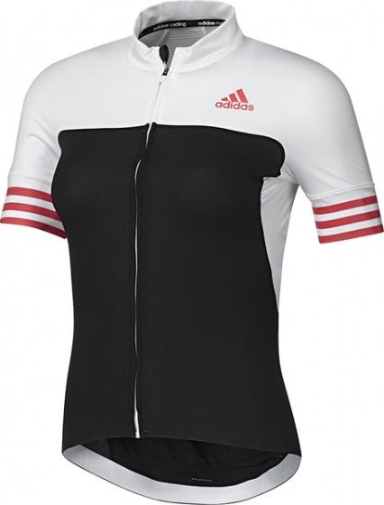 adidas Fietsshirt Adistar SS korte mouw dames zwart/wit mt XXS