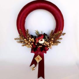 CDecor Crăciun coroniță elegantă 30 cm
