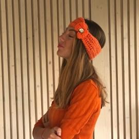 Bentiță portocalie cu fundă