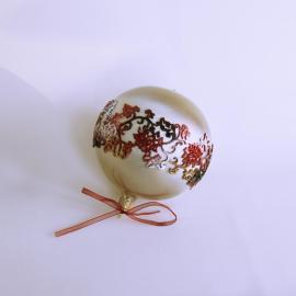 Glob Crăciun dantelă silicon, sticlă 10 cm