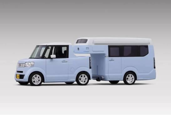ホンダの軽自動車+キャンピングトレーラー(参考出品)