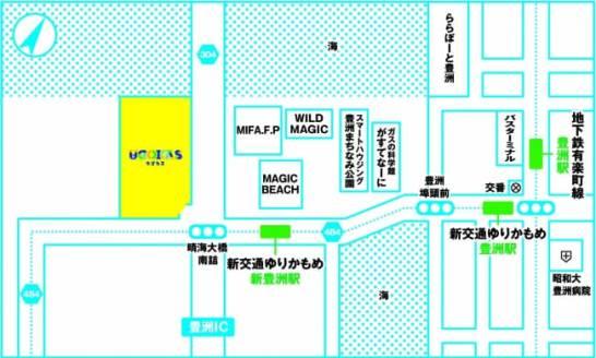 テーマパーク『UGOKAS』- 地図