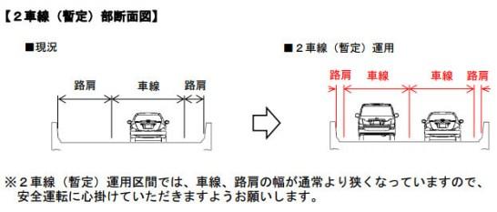 少し狭い - NEXCO 中日本