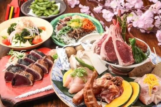 <肉皿鉢BBQコース【3H飲放題つき】7,000円>