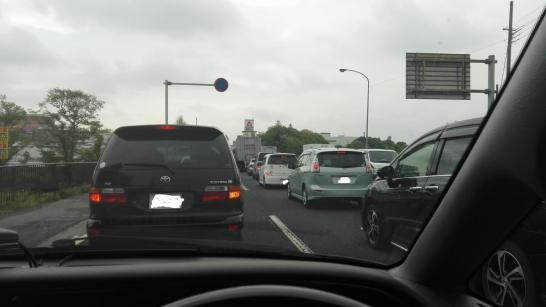 朝9時前だけどすでに渋滞