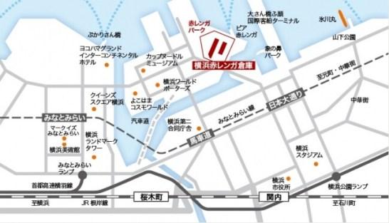 宇都宮餃子祭り in YOKOHAMA - 会場地図