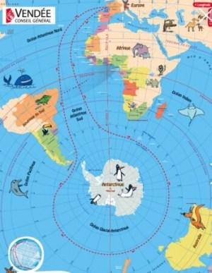 VENDEE GLOBE - 大会コース図