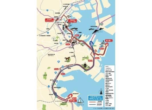 横浜マラソン - コース(変更なし)