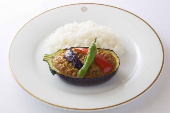 茄子と豚肉のキーマカレー