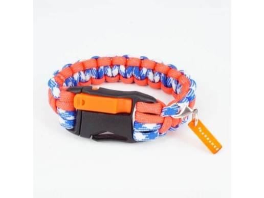 #beORANGEミサンガ - オレンジ x ブルー x ホワイト