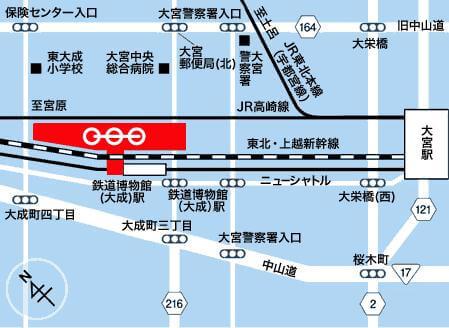 鉄道博物館 - 地図