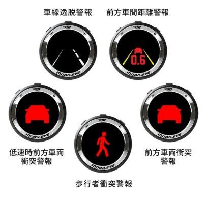 Mobileye570 ‐ 5つの警報機能