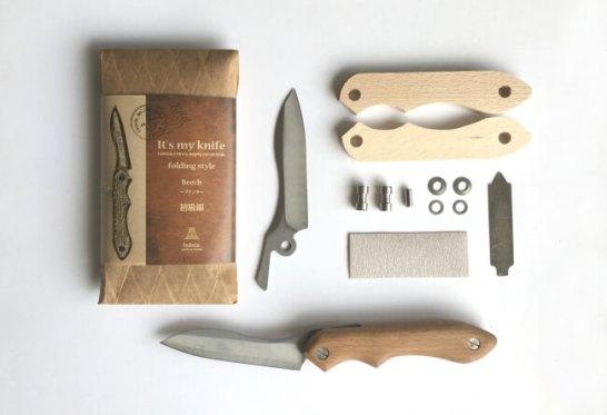 It's my knife folding style 初級編キット内容(上)