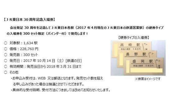 JR東⽇本30周年記念⼊場券 - JR 東日本