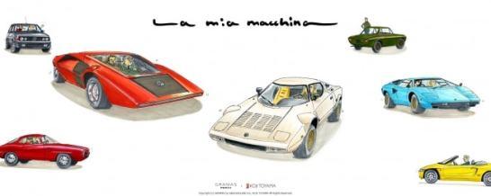 セミオーダーイラスト「La mia macchina」