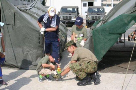 親と子のアウトドアキャンプ ‐ 陸上自衛隊練馬駐屯地で夏休みの思い出づくり
